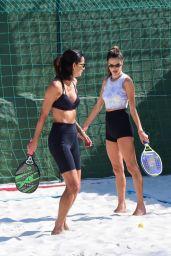 Alessandra Ambrosio - Playing Beach Tennis in Sao Paulo 07/11/2021