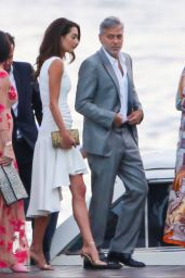 Amal Clooney and George Clooney at the Grand Hotel in Tremezzo 07/19/2021