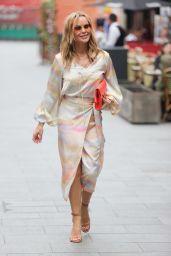 Amanda Holden in Wrap Dress at Heart Radio in London 07/15/2021