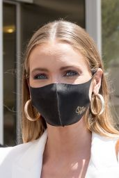 Amandine Petit (Miss France 2021) at the Martinez Hotel in Cannes 07/06/2021