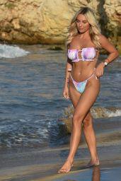 Amber Turner in a Bikini on the Beach in Mykonos 07/15/2021