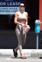 Amelia Gray Hamlin in a Nude Sports Bra With Matching Leggings - West Hollywood 07/01/2021