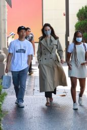 Angelina Jolie - Shopping with Zahara and Pax at Nordstrom at The Grove in LA 07/13/2021