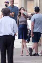 """Anna Kendrick and Charlie Carrick - """"Alice, Darling"""" Set in Toronto 07/19/2021"""