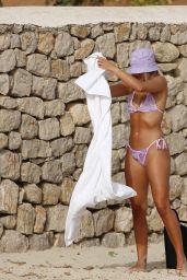 Arabella Chi in a Purple Prettylittlething Bikini - Ibiza 07/13/2021