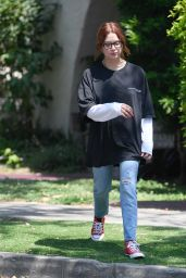 Ashley Benson Debuts Her New Copper Red Hair - West Hollywood 06/29/2021