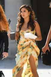 "Ashley Park - Filming ""Emily in Paris"" 07/20/2021"