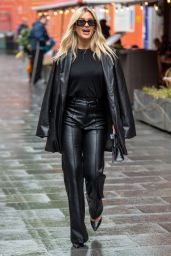 Ashley Roberts in Leather Trousers and Jacketat - London 07/06/2021