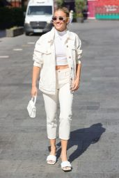 Ashley Roberts in White Denim and Cropped Top - London 07/23/2021