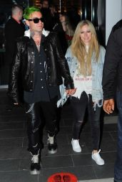 Avril Lavigne at BOA Steakhouse in West Hollywood 07/08/2021