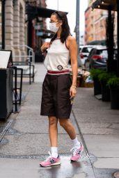 Bella Hadid and Marc Kalman at Walkers in Tribeca, NY 07/25/2021