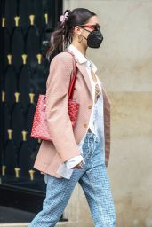 Bella Hadid - Out of the George V Hotel in Paris 07/01/2021