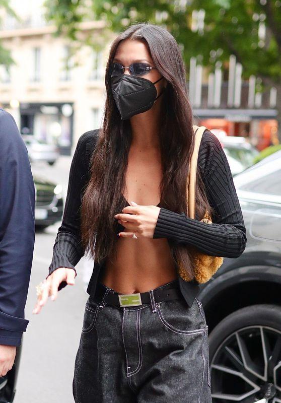 Bella Hadid Street Style - Paris 06/30/2021