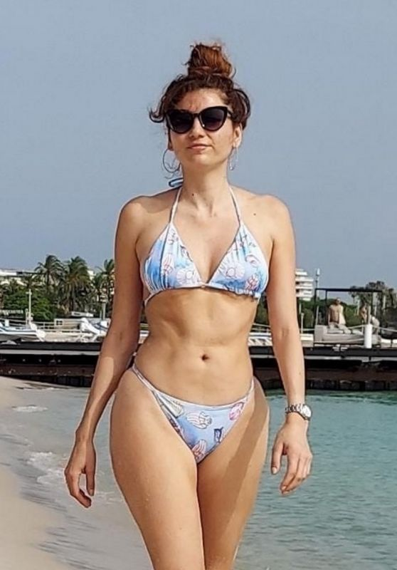 Blanca Blanco at Cannes Beach 07/16/2021