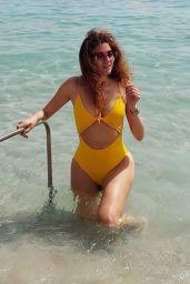 Blanca Blanco in a Yellow Bikini - Beach in Cannes 07/12/2021