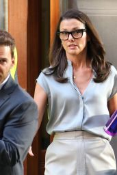 """Bridget Moynahan - """"Sex and the City"""" Reboot """"And Just Like That"""" Set in Soho, NY 07/19/2021"""