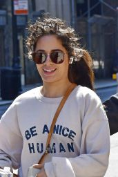 "Camila Cabello Wears a ""Be A Nice Human"" Sweatshirt - New York 07/23/2021"