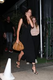 Camila Morrone in a Black Dress at Giorgio Baldi in Santa Monica 06/30/2021