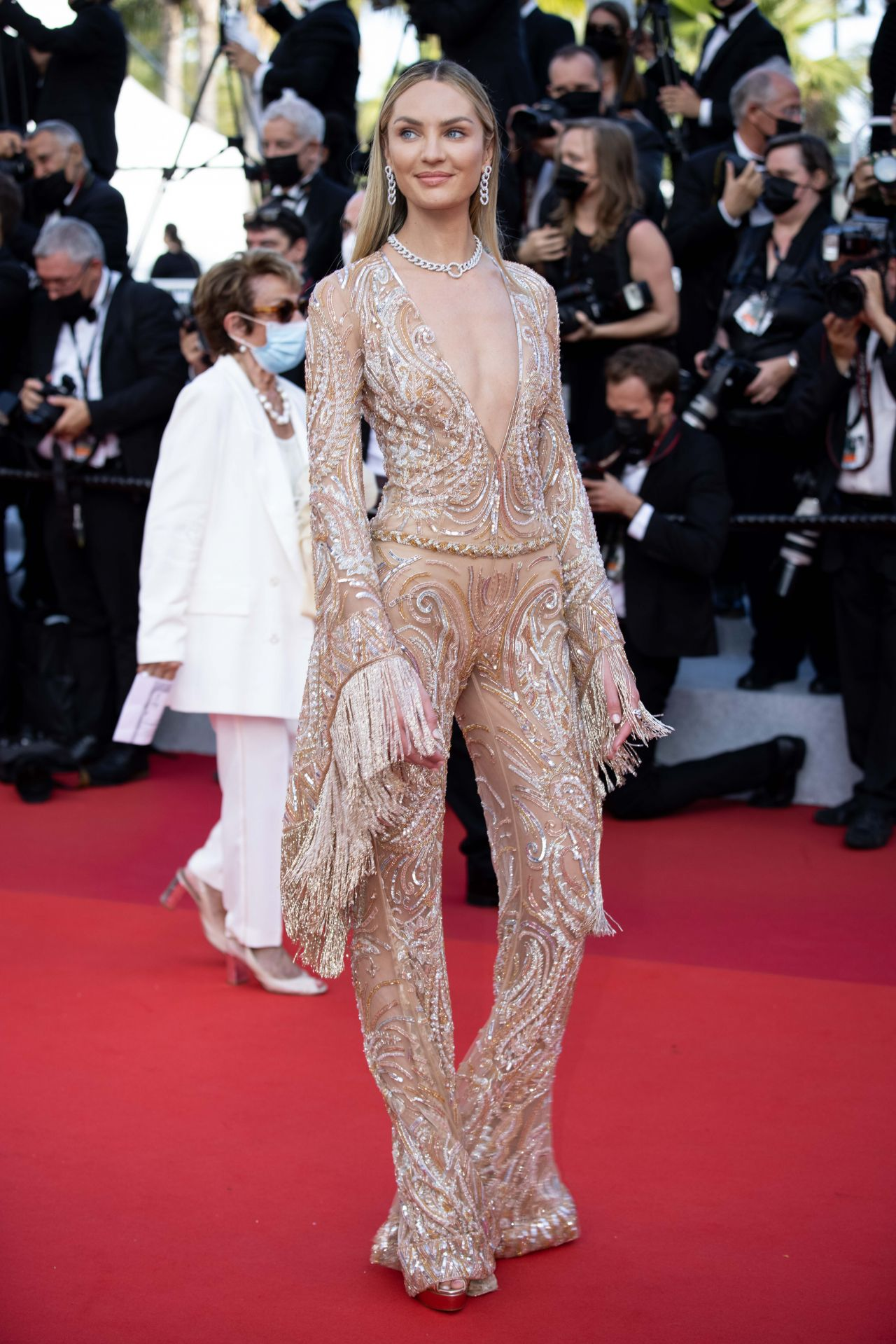 Candice Swanepoel – 74th Annual Cannes Film Festival Opening Ceremony Red Carpet • CelebMafia