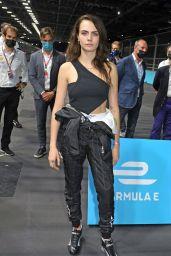 Cara Delevingne - DS Techeetah Garage at the 2021 E-Prix in London 07/24/2021