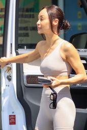 Cara Santana in Workout Gear at Starbucks in LA 07/06/2021