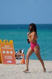 Chanel West Coast in a Multicolor Swimsuit - Miami Beach 07/08/2021