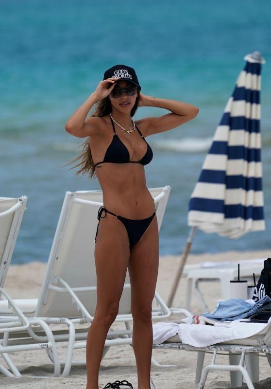 Chantel Jeffries in a Bikini - Beach in Miami 07/23/2021
