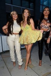 Charlotte Dawson, Sophie Kasaei and Abbie Holborn at Menagerie in Manchester 07/29/2021