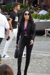 Cher in the Italian Resort of Portofino 07/18/2021
