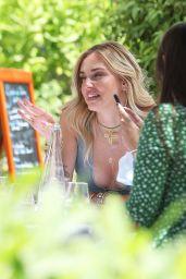 Chiara Ferragni on the Terrace of the Martinez Hotel in Cannes 07/07/2021
