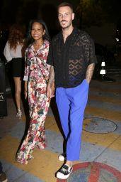Christina Milian and Matt Pokora - VIP Room La Gioia Restaurant in Saint-Tropez 07/10/2021