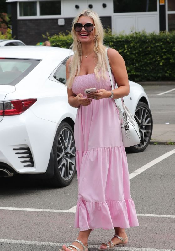 Christine McGuinness in Pink - Out in Wilmslow, Cheshire 07/13/2021