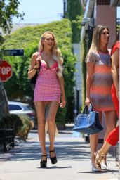 Christine Quinn in a Pink Dress - West Hollywood 06/30/2021
