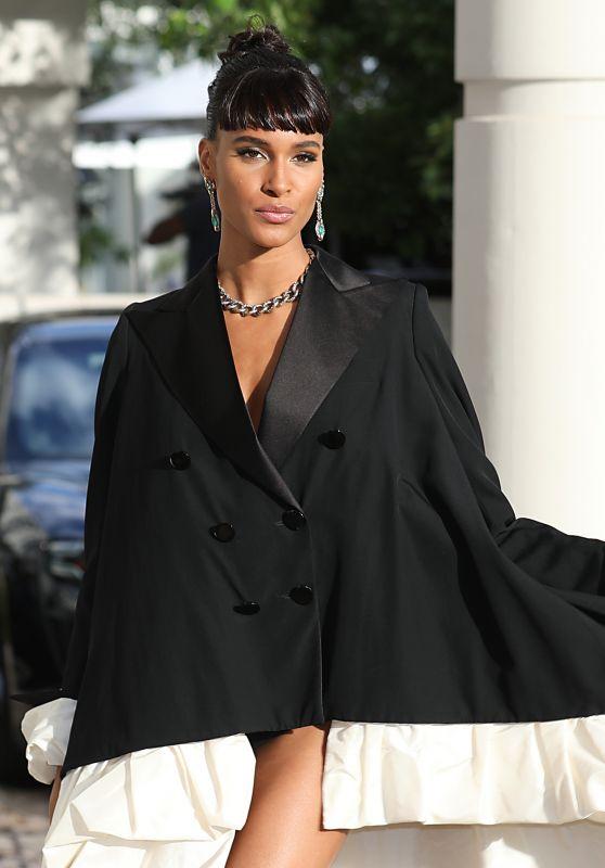 Cindy Bruna - Leaving Hotel Martinez in Cannes 07/16/2021