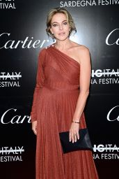 Claudia Gerini – Filming Italy Festival in Santa Margherita di Pula 07/25/2021