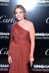 Claudia Gerini - Filming Italy Festival in Santa Margherita di Pula 07/25/2021