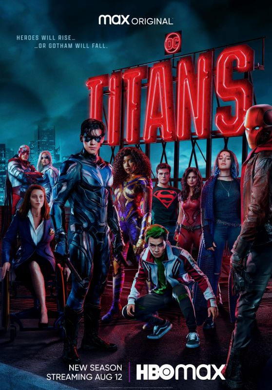 "Conor Leslie, Anna Diop, Minka Kelly, Teagan Croft and Savannah Welch - ""Titans"" Season 3 Poster"