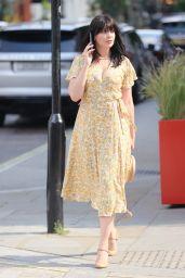 Daisy Lowe in Plunging Floral Dress - Roka Restaurant in Mayfair 07/20/2021