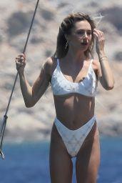 Delilah Belle Hamlin in a White Bikini in Mykonos 07/15/2021
