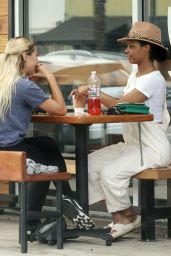 Emma Slater and Britt Stewart at The Joint in LA 07/08/2021