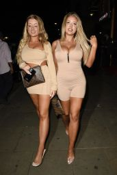 Eve Gale and Jess Gale at Demi Jones Birthday Party Night Out at Impossible in Manchester 07/02/2021