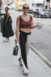 Ferne McCann in Two Tone Trousers and vest in London 07/26/2021