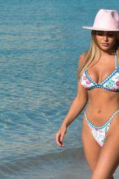Georgia Harrison in a Bikini - Beach in Miami 07/23/2021