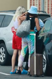 GG Magree and Vanessa Hudgens at the Burbank Airport 07/13/2021
