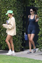 Hailey Rhode Bieber and Kendall Jenner - Leaving a Pilates Class in West Hollywood 07/13/2021