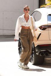 Hailey Rhode Bieber Chic Street Style - Beverly Hills 07/01/2021