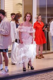 Haley Lu Richardson - Leaving the Martinez Hotel in Cannes 07/10/2021