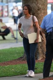 """Halle Berry on the Set of """"The Mothership"""" in Norwood 07/20/2021"""