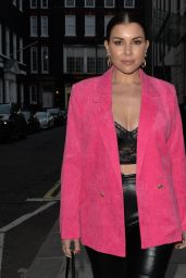 Imogen Thomas - Arriving at IT Restaurant in Mayfair 07/01/2021