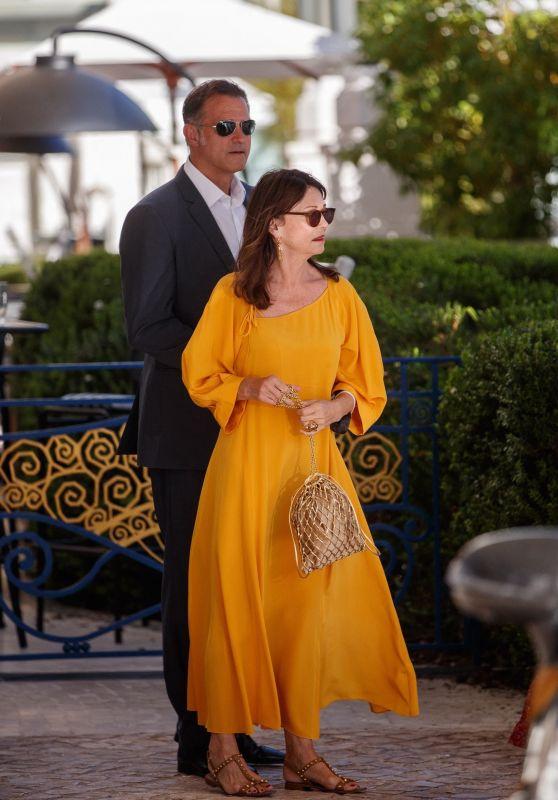 Iris Berben at the Martinez Hotel in Cannes 07/06/2021